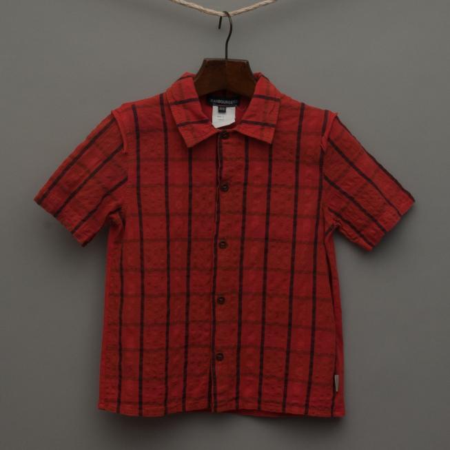 Orange Check Shirt