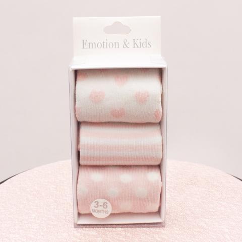 "Emotion & Kids Sock Set ""Brand New"" 3-6 Mths"