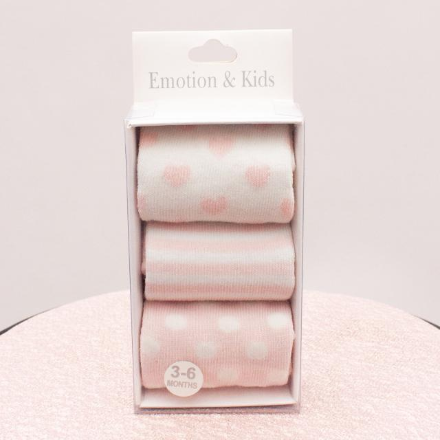 "Emotion & Kids Sock Set ""Brand New"" 3-6 Mths"