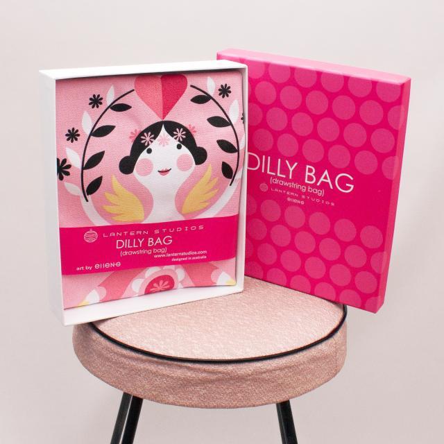 "Dilly Bag Patterned Drawstring Bag ""Brand New"""
