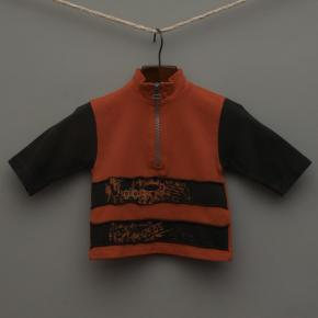 Orange and Charcoal Jumper