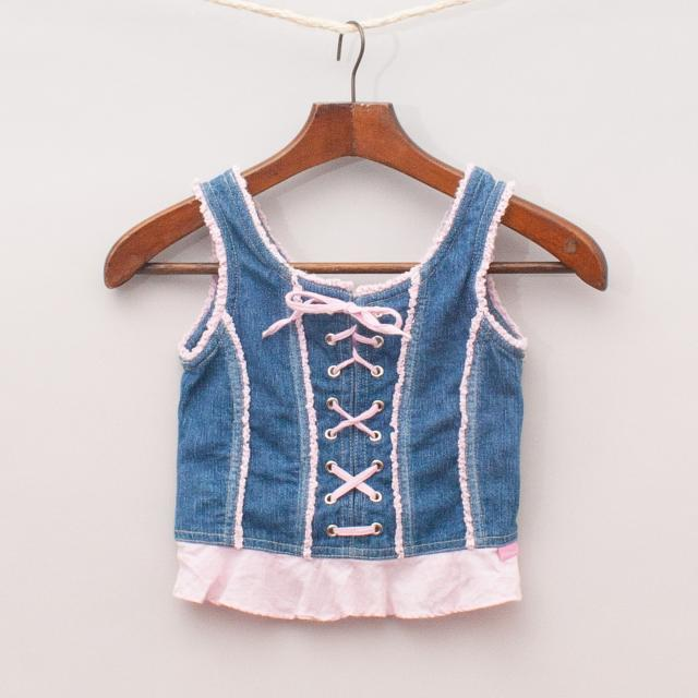 Fred Bare Lace Up Singlet