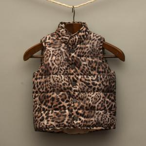 Leopard Print Puffer Vest