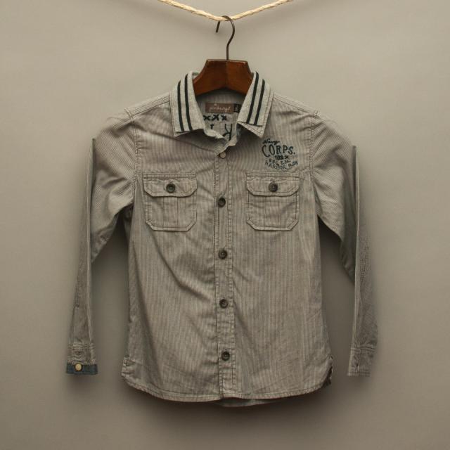 Blue Stripe Collared Shirt