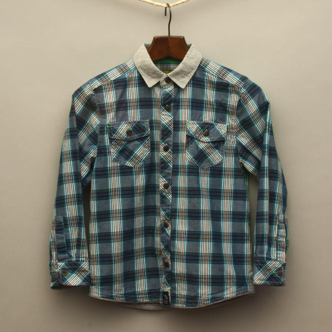 Navy Blue Plaid Shirt