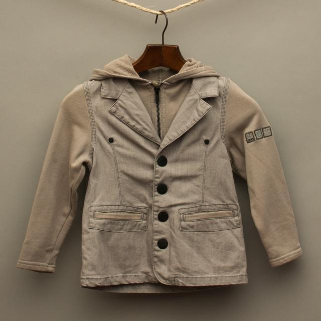 Grey Textured Jacket