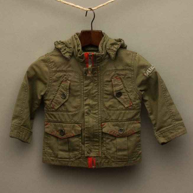 Khaki Textured Jacket