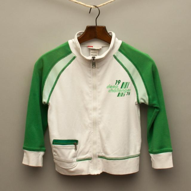 White and Green Jumper