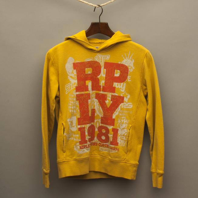 Mustard Yellow Hooded Jumper