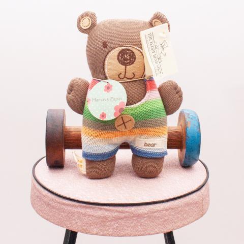 """The Teddy Bear Shop Colourful Bear Rattle """"Brand New"""""""