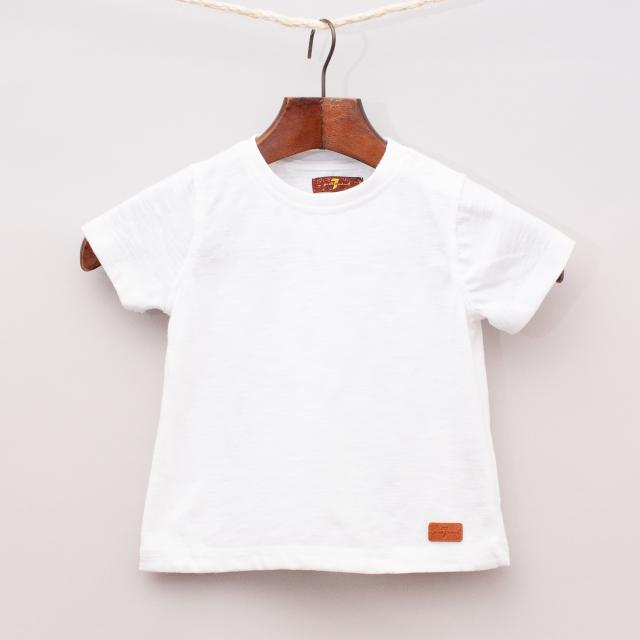 7 For All Mankind White T-Shirt