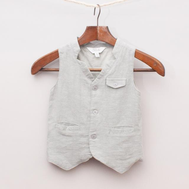 Bebe Cotton/Linen Vest