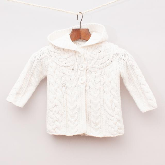 Seed Cable Knit Cardigan