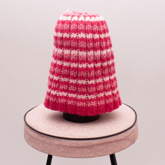 Hand Knitted Pink Beanie