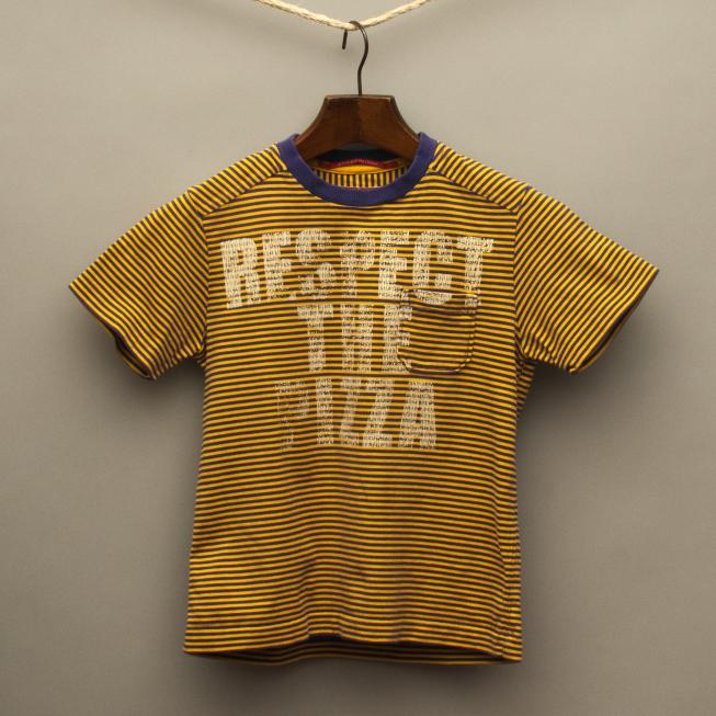 Purple and Yellow Striped T-Shirt