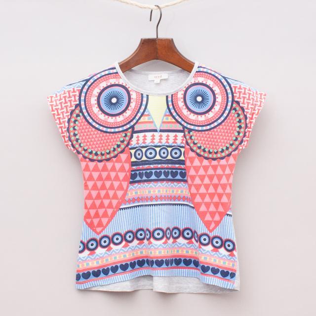 Seed Kalaidescope Owl T-Shirt
