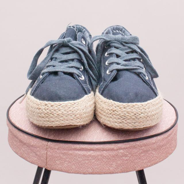 "Seed Blue Espadrilles - EU 37 (Age 8 Approx.) ""Brand New"""