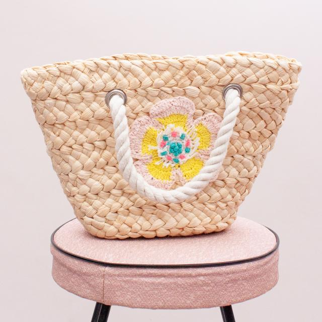 Country Road Straw Beach Bag