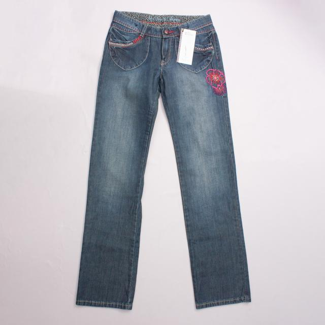 """Catimini Embroidered Jeans """"Brand New"""""""