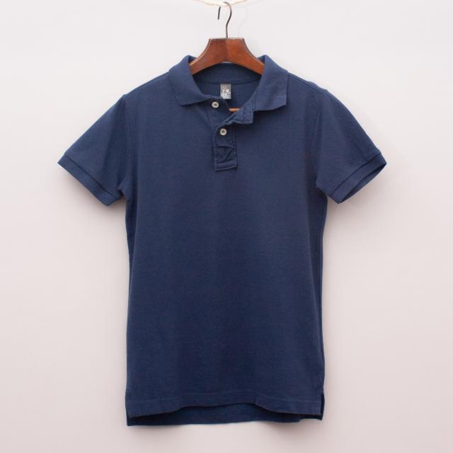 Zara Navy Blue Polo Shirt