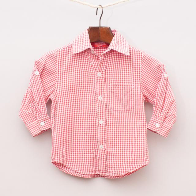 Mini Rhubarb Gingham Shirt