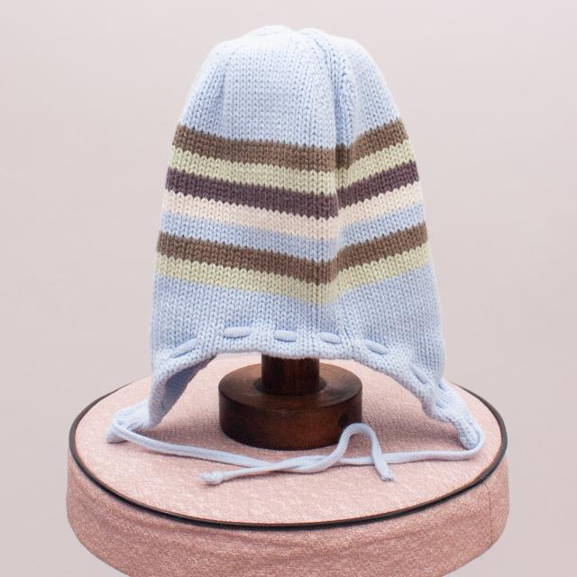 Purebaby Organic Cotton Striped Beanie - 40cm Approx.