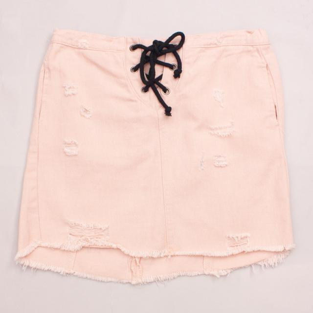 Hayden Pastel Denim Skirt