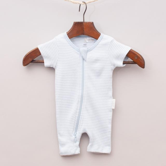 Purebaby Organic Cotton Striped Romper