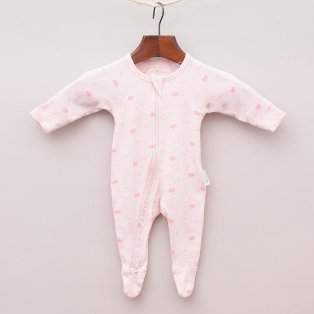 Purebaby Organic Cotton Patterned Romper