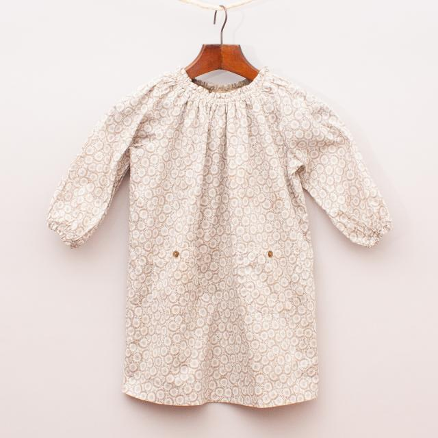 Marie Chantal Patterned Smock Dress