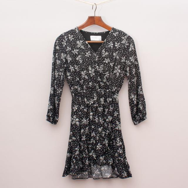Decjuba Paisley Cross-Over Dress