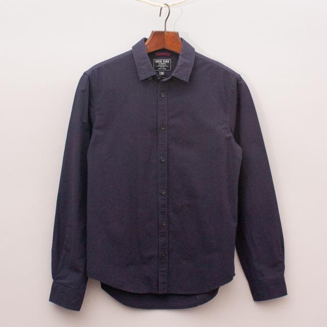 Indie Navy Cotton/Linen Shirt
