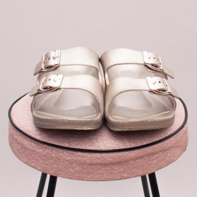 Cotton On Metallic Sandals - EU 31 (Age 6-8 Approx.)