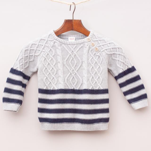 Seed Cable Knit Jumper