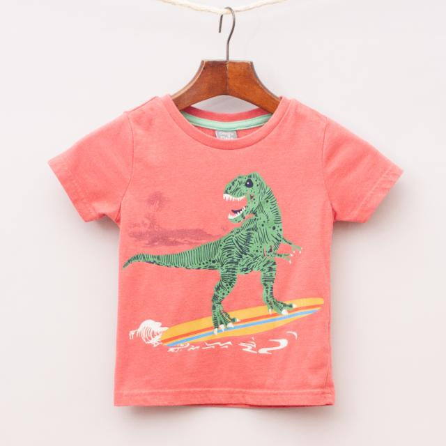 Ollie's Place Surfing T-Rex T-Shirt