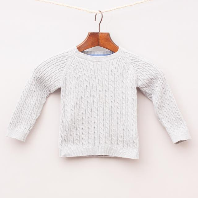 Purebaby Cable Knit Jumper