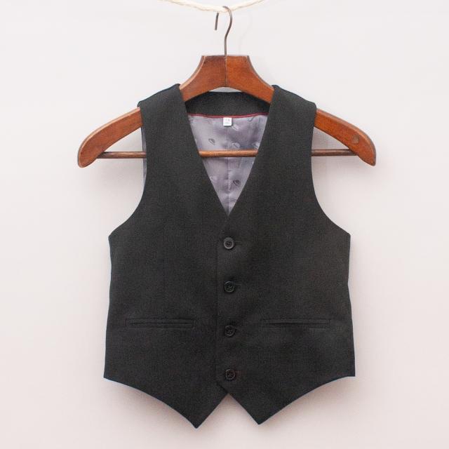 M&S Black Waistcoat