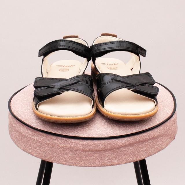 "Clarks Patent Leather Sandals - Size EU 29 (Age 5-6 Approx.) ""Brand New"""