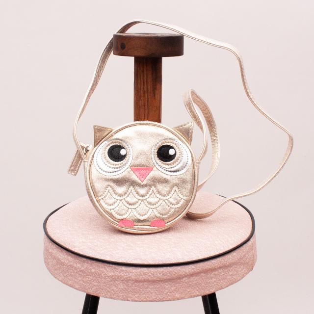 Seed Metallic Owl Purse