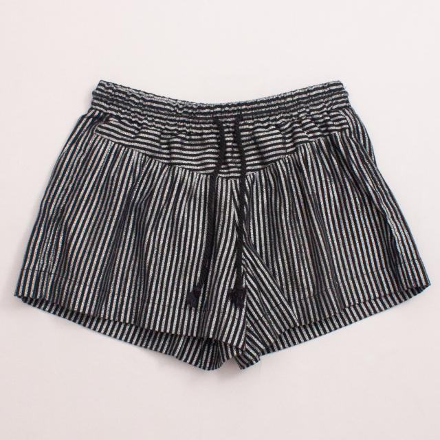 Country Road Metallic Striped Shorts