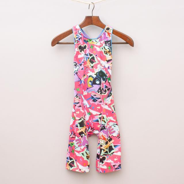 Maru Patterned Swim Knee Suit