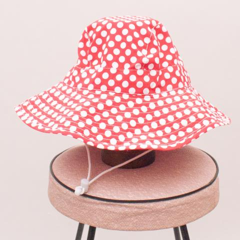 Babes In The Shade Polka Dot Hat - S