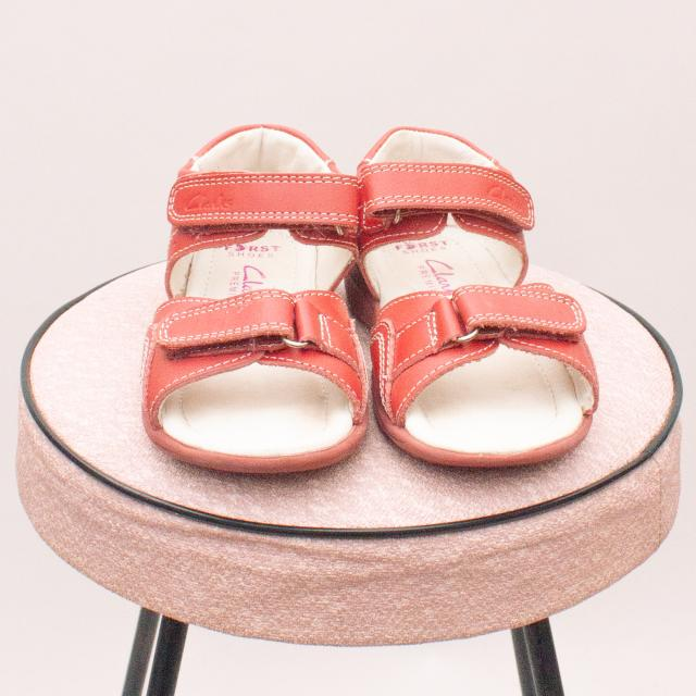Clarks Red Sandals - EU 25 (Age 2 Approx.)