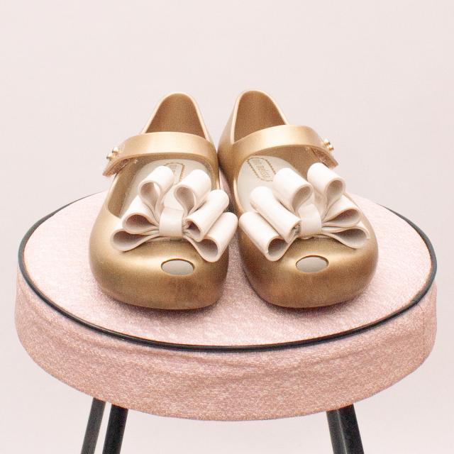 Mini Melissa Gold Shoes - EU 27 (Age 3 Approx.)