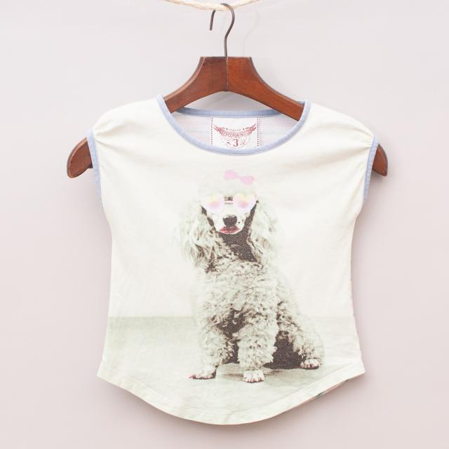 Paper Wings Poodle T-Shirt