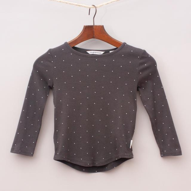 Country Road Polka Dot Long Sleeve
