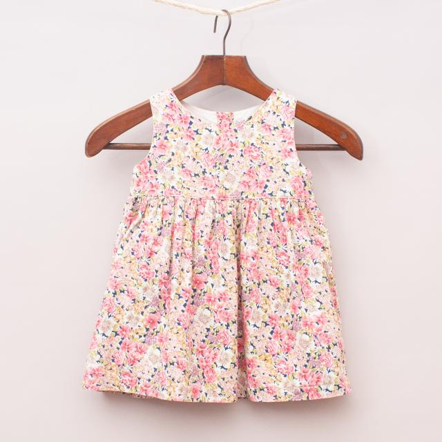 Plum Floral Dress