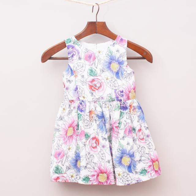 Tutu's & Tambourines Floral Dress