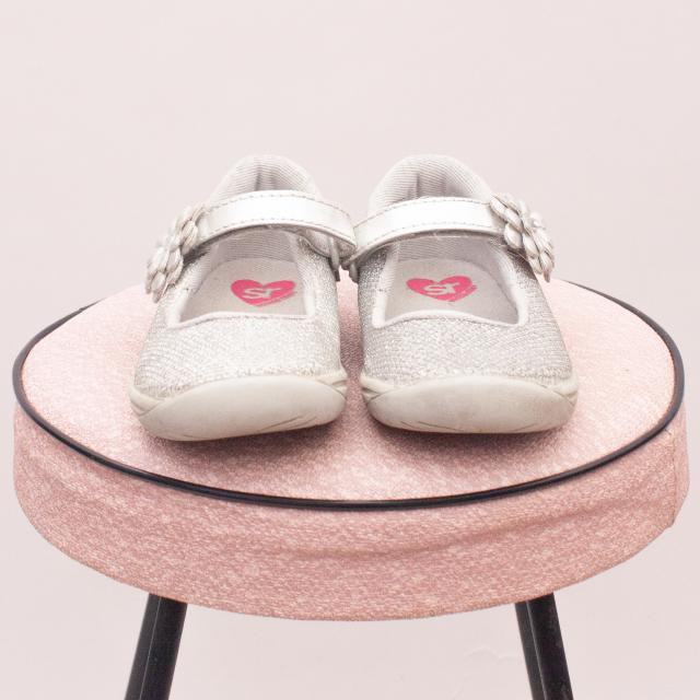 Stride Rite Silver Shoes - EU 23.5 (Age 0-18Mths Approx.)
