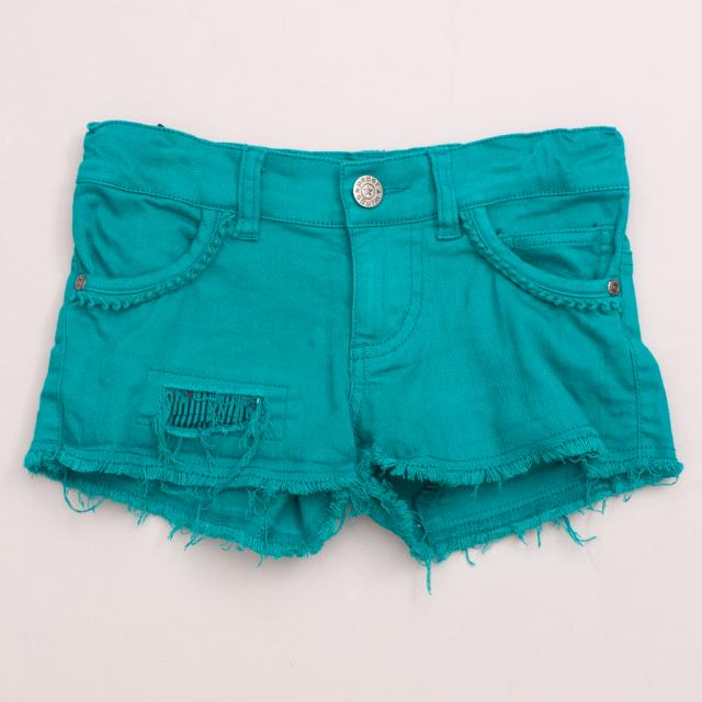 Paper Wings Emerald Shorts
